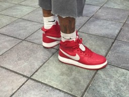 "Nike Air Force 1 ""Nai Ke"" Gym Red Hi Retro QS"